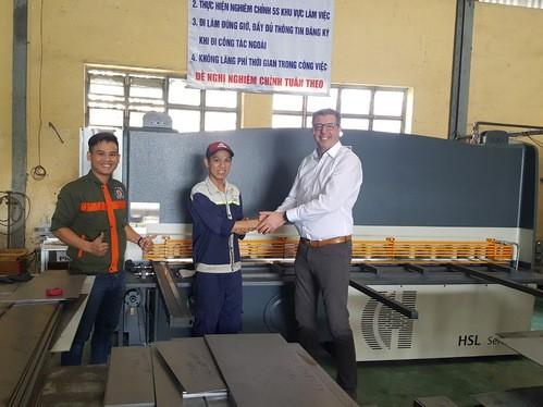 Installation of the first HACO HSL3006 Shears in Vietnam by Nhat Cuong