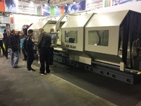 Lathe TUR 800SMN x 4000 presented on the Prodex Fair in Switzerland